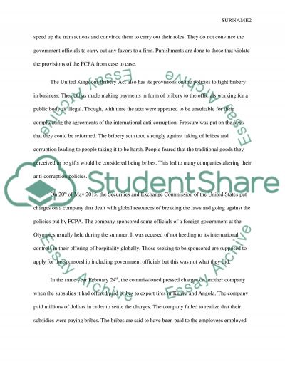 case study bribery assignment example topics and well written  case study bribery essay example