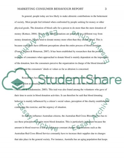 Consumer Behaviour Report essay example