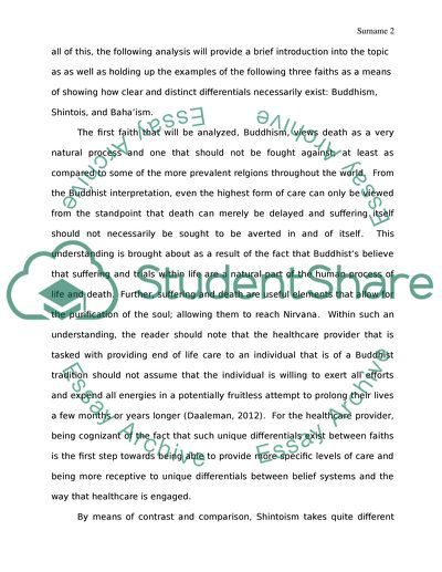 spirituality in health care essay example  topics and well