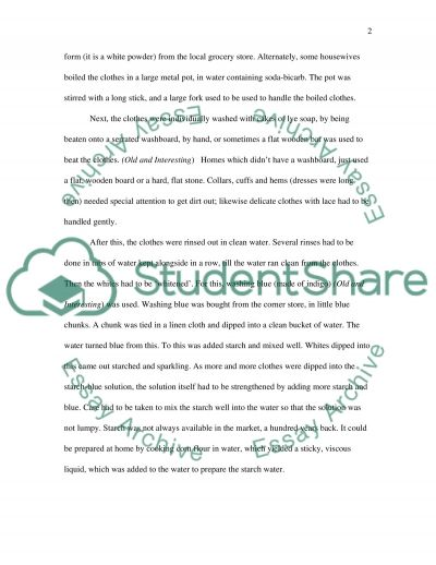 Laundered Clothes essay example