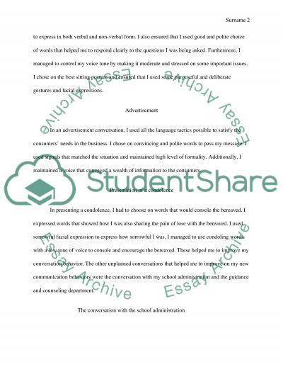 Communication Behavior Report essay example