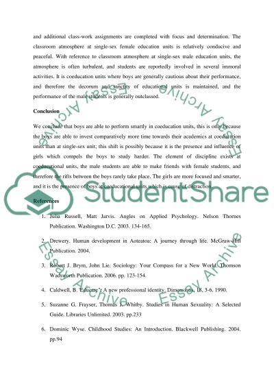 Psychology of Gender essay example