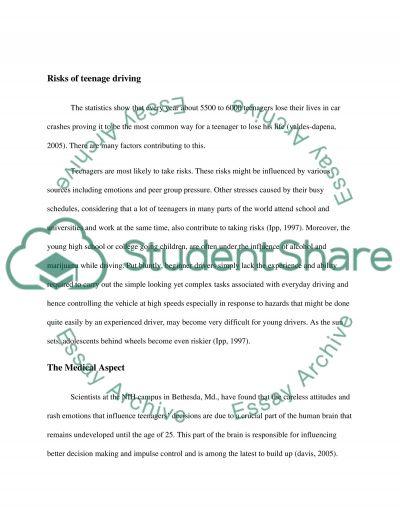 Teenage Drivers essay example