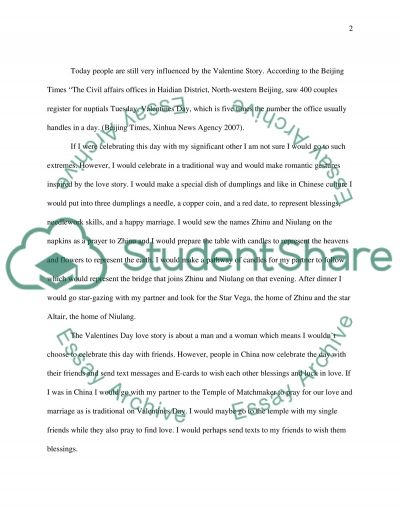 Chinese Valentines Day essay example