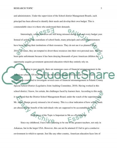 Providing a Motivation for Addressing Your Topic essay example