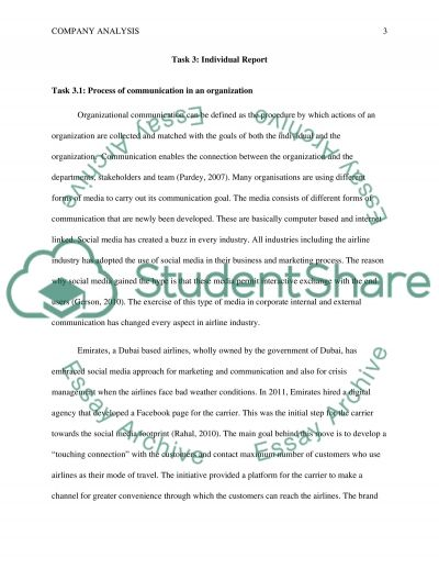 Individual report - Be able to develop a communications process essay example