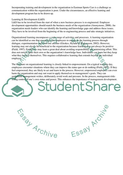 organizational learning case study