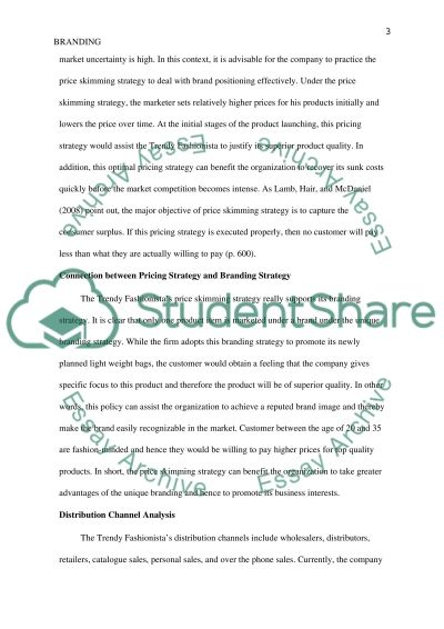 Branding, Pricing, and Distribution essay example