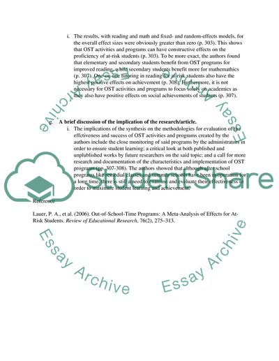 1-2 page critique/summary of an article