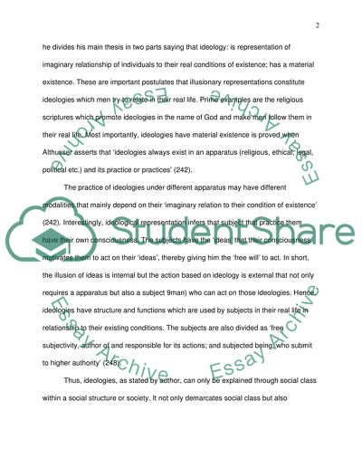 Tips On How To Write A Persuasive Essay Ideology And Ideological State Apparatuses Louis Althusser English Example Essay also Essay On Topic Education Ideology And Ideological State Apparatuses Louis Althusser Essay Check Essay