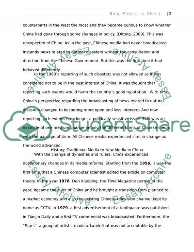 New Media in China essay example