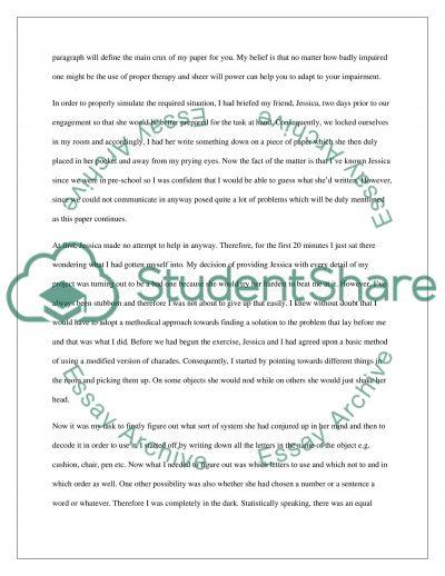 Psychology College Essay essay example