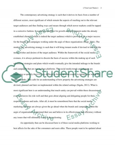 Threats and Opportunities of Social Media Marketing in the Framework of Contemporary Advertising Strategy essay example