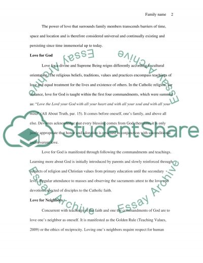 Extended definitions of love essay example