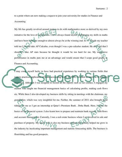 Motivation essay for university admission