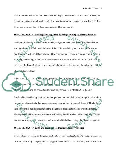 Communication skills diary