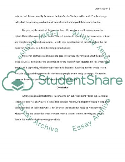 Abstraction essay example