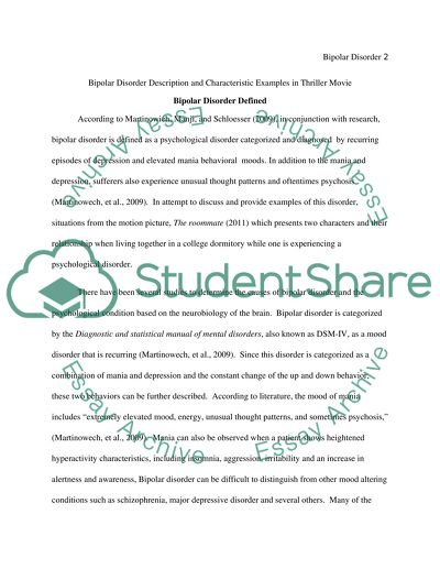Bipolar disorder research paper titles