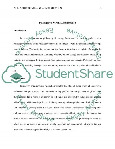 Higher English Reflective Essay Nursing Administration Philosophy Statement Essay  Example Of A College Essay Paper also Paper Vs Essay Philosophy Of Nursing Essay  Romefontanacountryinncom Science Essay Example