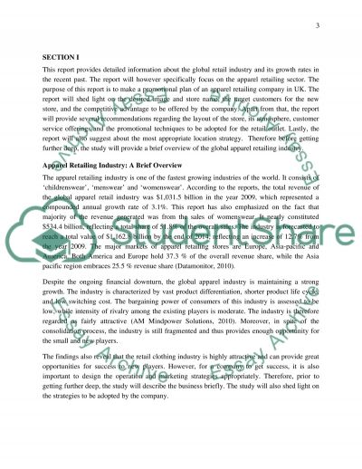 Retail Store Marketing Plan essay example