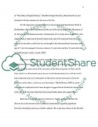 English History essay example