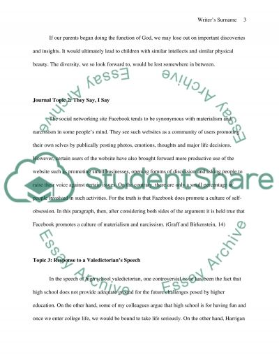 11 Topics Journal Essay example