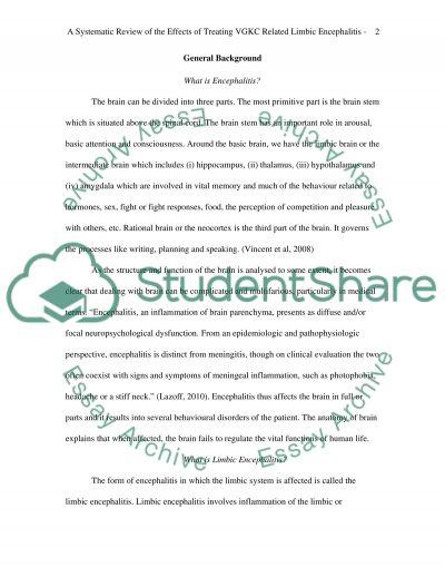 Limbic encephalitis essay example