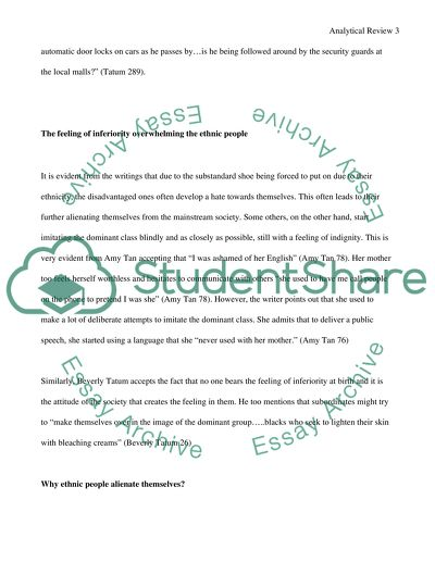 Analytical Writing Paper