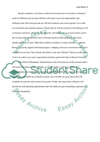 Boston university application essay