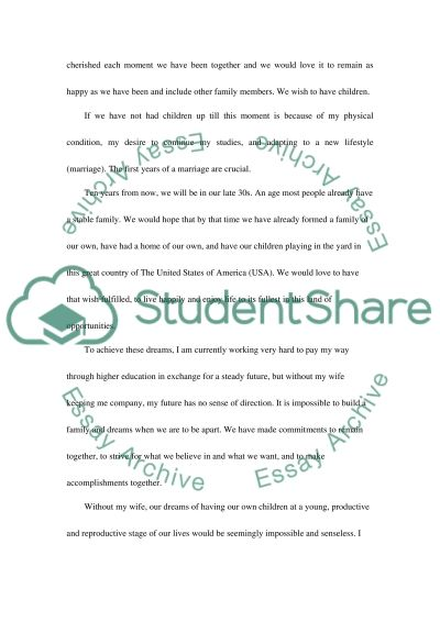 Hardship Letter essay example