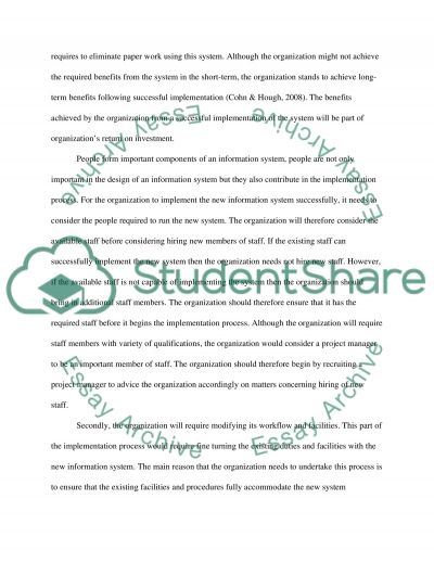 Technology Implementation  Essay example