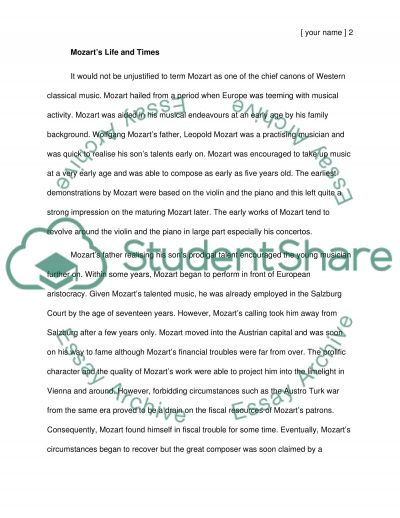 Piece essay example