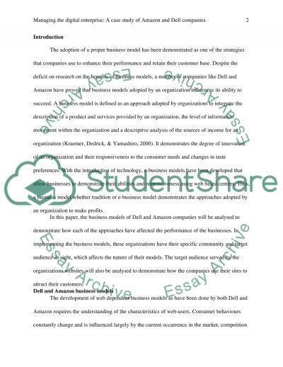 Managing the Digital Enterprise essay example
