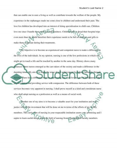 Admission Essay essay example