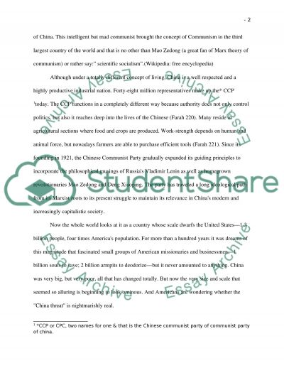 Chinese Communist Party essay example