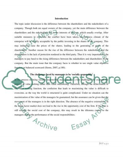 Shareholding versus Stakeholding