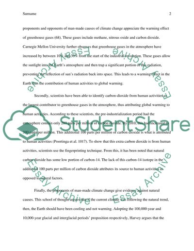 Informative Essay-topic: Is global climate change man-made Essay