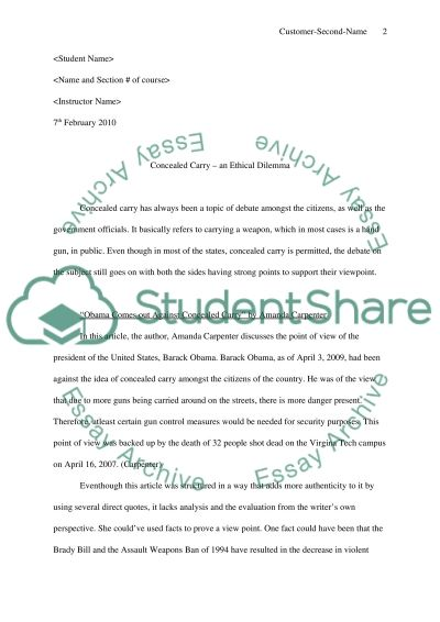 Ethical And critical Thinking essay example