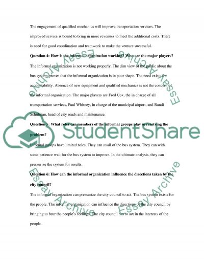 Bus System Poor Performance essay example