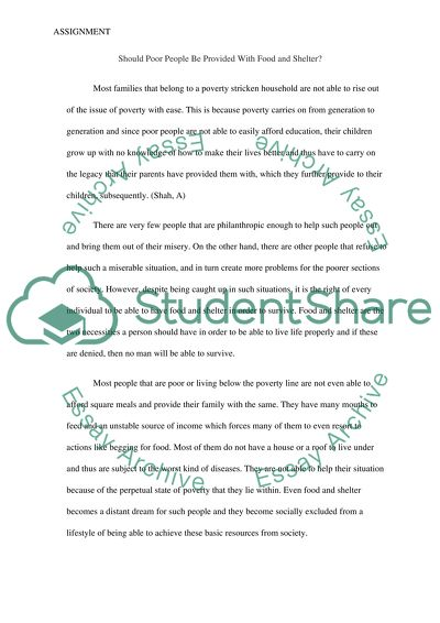 Essay On My Mother In English Should Poor People Be Provided With Food And Shelter Argumentative Essay Thesis Statement Examples also Reflective Essay English Class Should Poor People Be Provided With Food And Shelter Essay Essay Papers