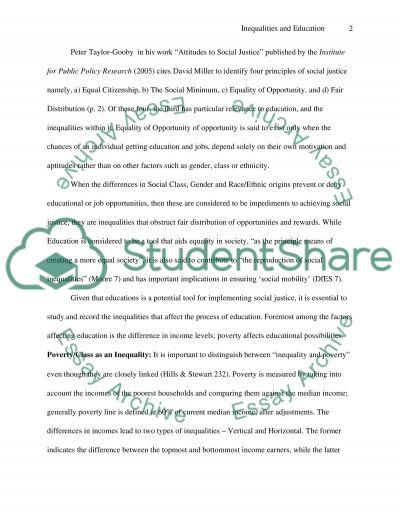 Inequalities in Education essay example