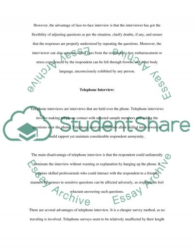 Administering the questionnaire survey essay example
