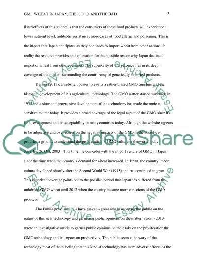 In Which Ways and to What Extent Can GMO Products Harm Health essay example