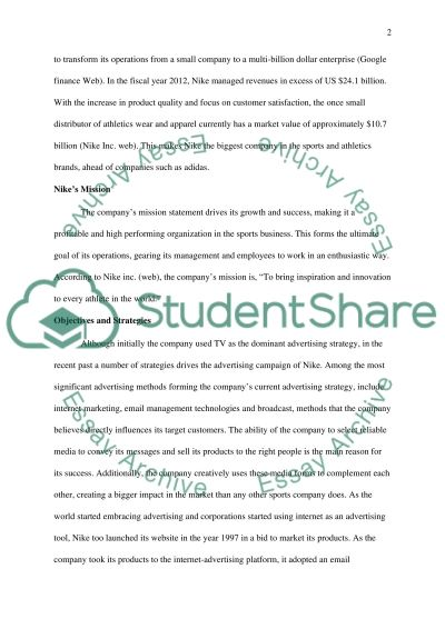 Brand Portfolio Project (advertising) essay example