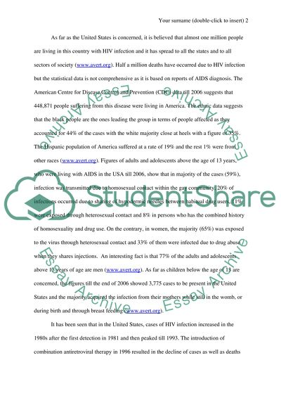 Science Essays Aids My English Essay also Business Essay Format Aids Essay Example  Topics And Well Written Essays   Words   Synthesis Essays
