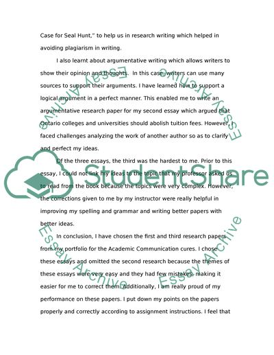 The course Academic Communication in the English language