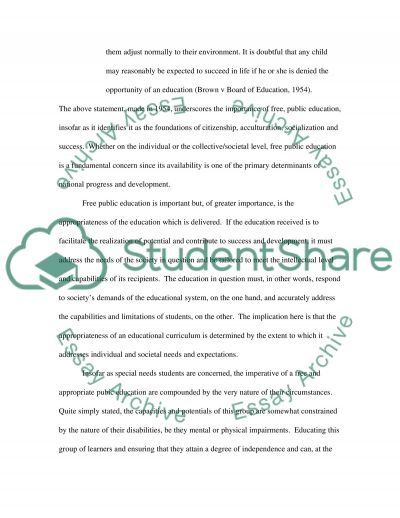 Free Appropriate Public Education essay example