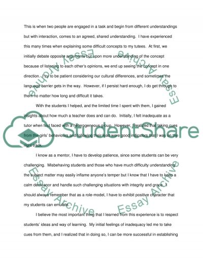 word reflection essay example topics and well written essays  500 word reflection essay example
