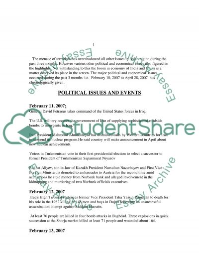Political and Economical Issues essay example