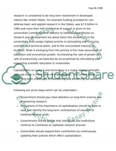 Investment in Education essay example